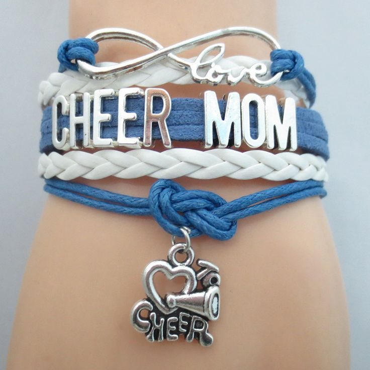 Tell everyone you are a Proud Mom of Cheerleader - Infinity Love Cheerleader Mom Bracelet. Don't Miss our sales event.