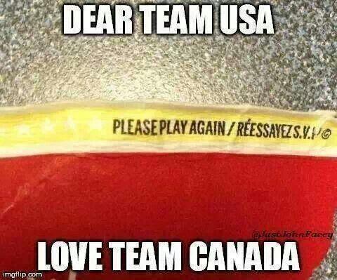 Canadian humor, sorry America