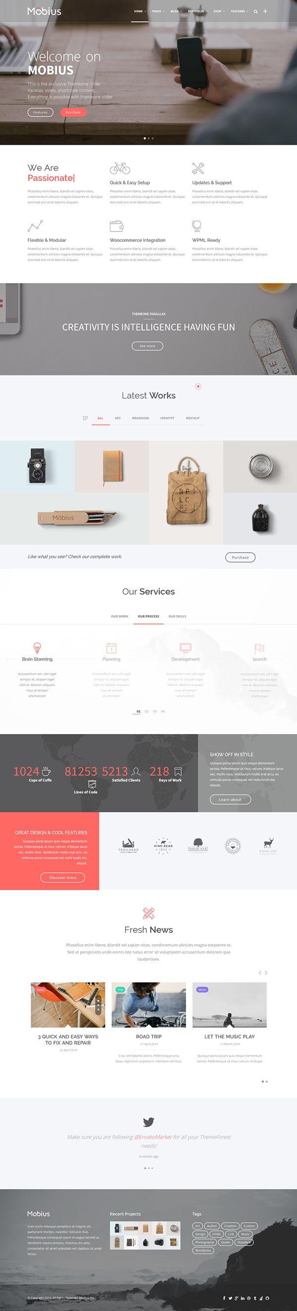 Mobius - Responsive Multi-Purpose WordPress Theme on Web Design Served