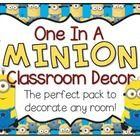 """This is the perfect pack to make your classroom """"one in a minion!"""" Includes name tags, schedule labels, job labels, supply labels, welcome banner, ..."""