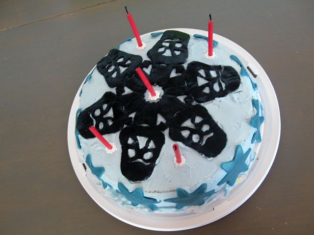 Star Wars cake, Darth Vader cake, 5th birthday