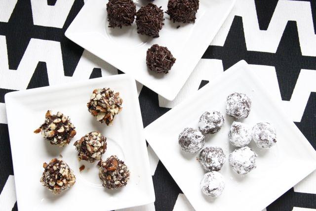 Milk/Dark Chocolate Almond Truffles   Sweet tooth   Pinterest