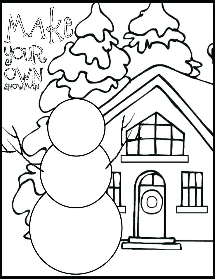 Snowman Coloring Pages Christmas Coloring Pages Snowman