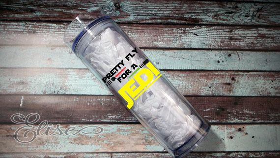 Pretty Fly For A Jedi / Choice of Skinny Tumbler or Sports Bottle / Star Wars Inspired / Great Gift / Customizable / BPA Free