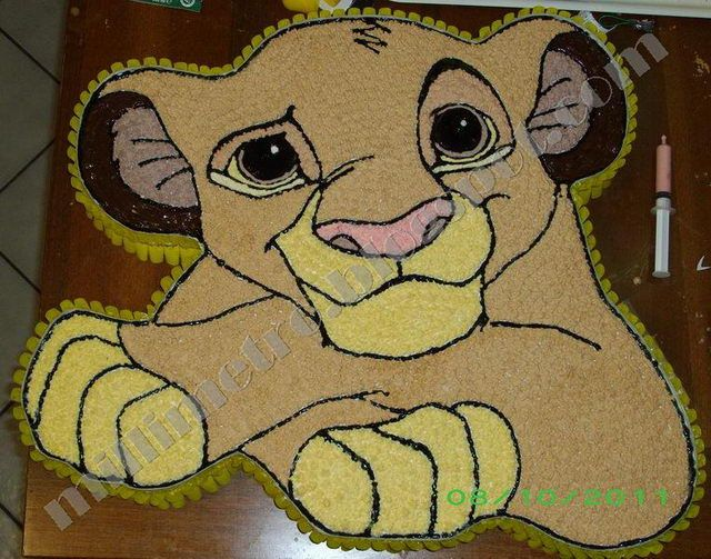 Torta Simba (Re Leone) - Simba cake  (Lion King)