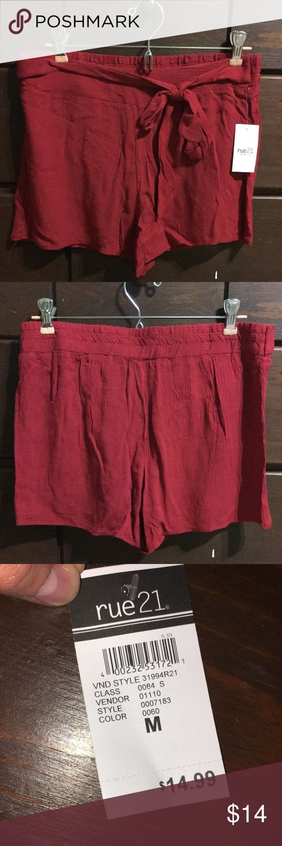 Rue 21 Maroon Dress Shorts Really cute dressy, maroon shorts. Never worn with tags still attached. Rue 21 Shorts