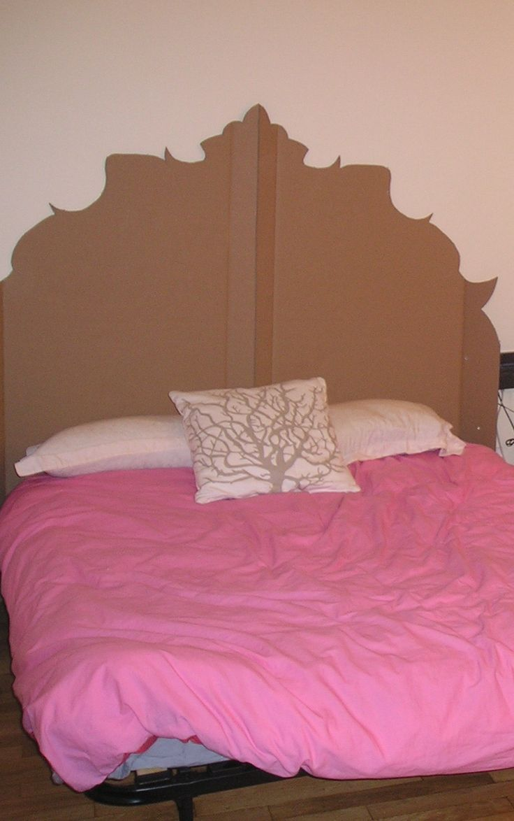 Best 25 cardboard headboard ideas on pinterest cheap for Large headboard ideas