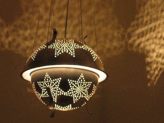 8 Prodigious Unique Ideas Lamp Shades Repurpose Lamp: 17 Best Ideas About Colander Light On Pinterest