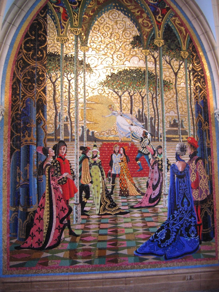 17 best images about mosaics on pinterest mosaics for Cinderella castle wall mural