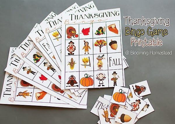 Thanksgiving Bingo Game Free Printable via @Lisa Phillips-Barton Damman-Sharrow Homestead ...so fun!