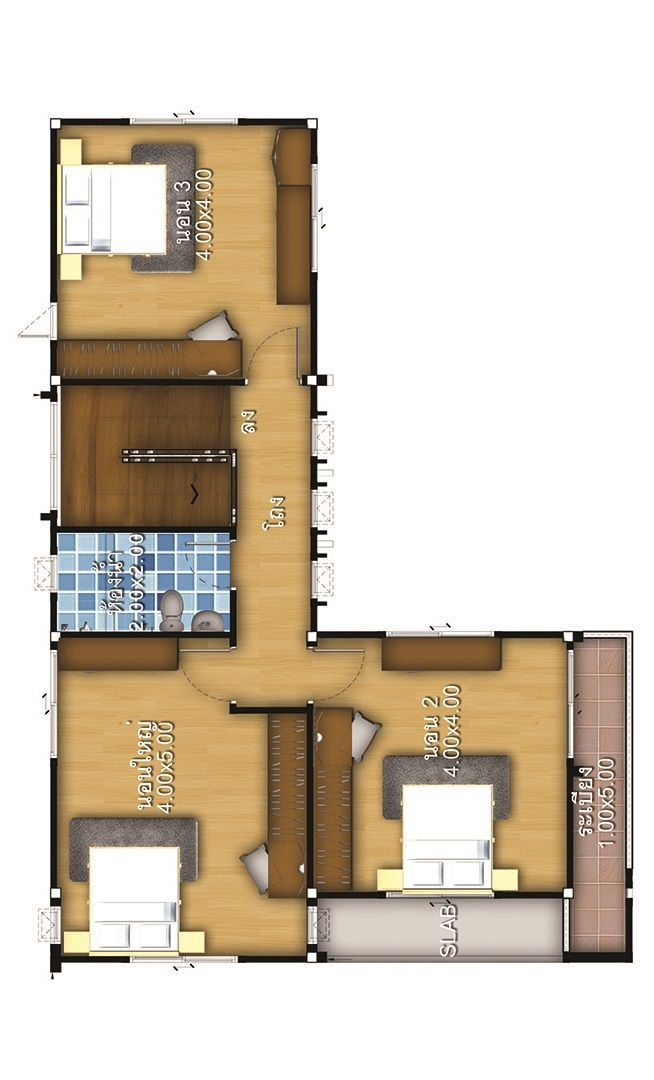 House Plans Design Idea 13x8 With 3 Bedrooms House Plans 3d Home Design Plans Bedroom House Plans House Plans