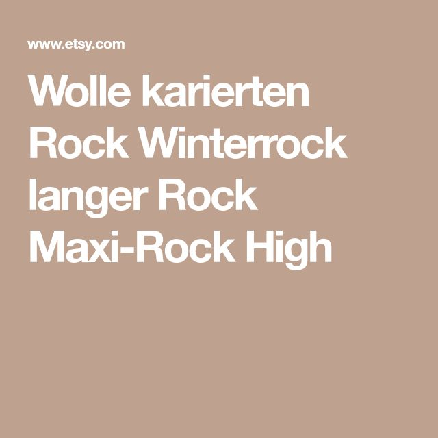 Wolle karierten Rock Winterrock langer Rock Maxi-Rock High
