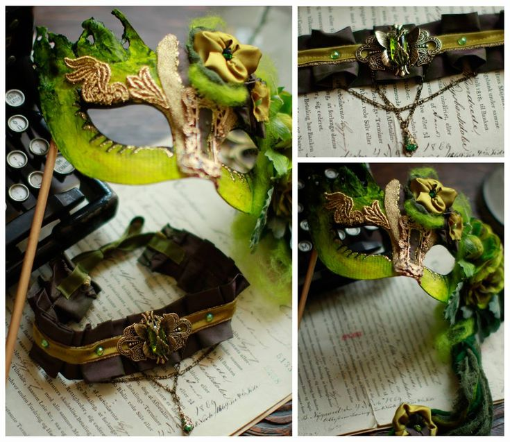 Absinthe Mask and Choker by IdaLarsenArt.deviantart.com on @deviantART