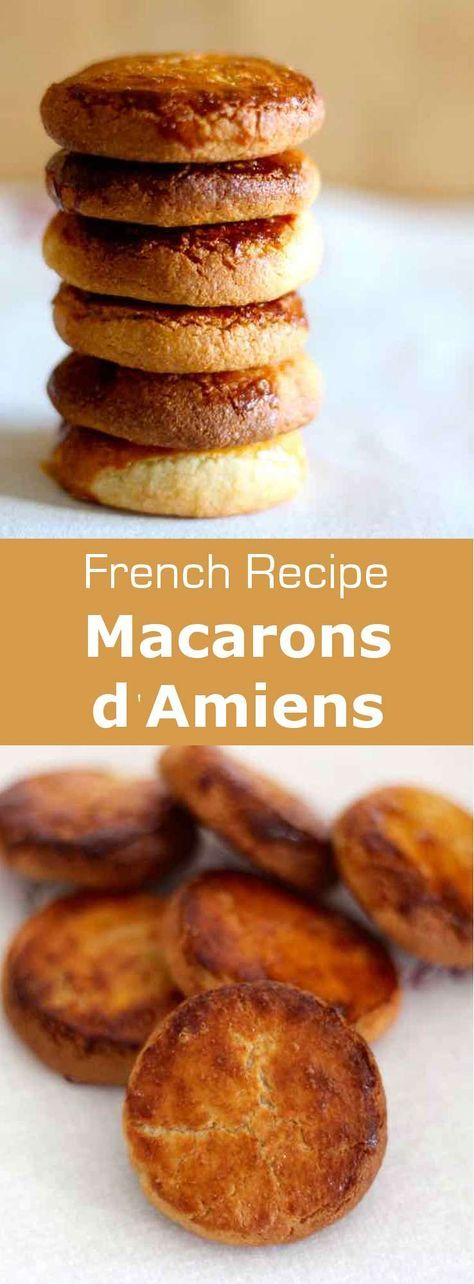 Amiens macarons, unlike the smooth and colorful traditional Parisian macarons are not made of meringue and almonds. The recipe is much easier. #macaron #French #FrenchPastry #WorldCuisine #196flavors