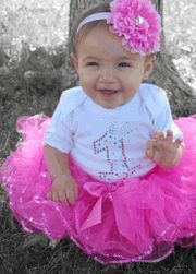 Candy Pink Birthday Tutu Set