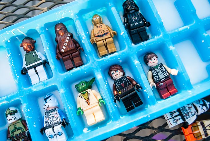 Here are trivia questions for this Star Wars birthday party game: Free Han Solo From Carbonite Trivia Game! Freeze Star Wars LEGO minifigures in baking soda and water, then ask trivia questions (provided here). The first party guest with a correct answer gets one scoop of vinegar. Kids love answering the trivia and seeing minifigures bubble and escape Jabba's palace! #starwars