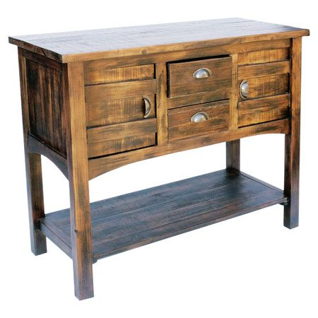 2-drawer+wood+console+table+with+2+doors+and+an+open+bottom+shelf.+  Product:+Console+tableConstruction+Material:+