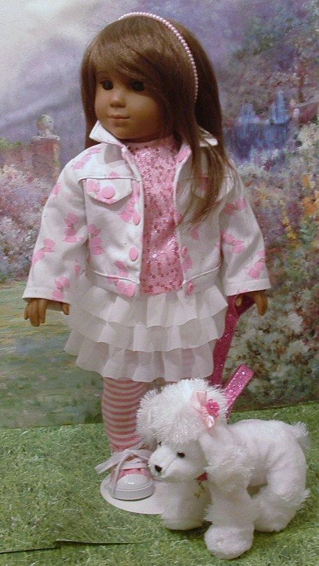 Pink Poodles for American Girl Dolls by MyGirlClothingCo on Etsy