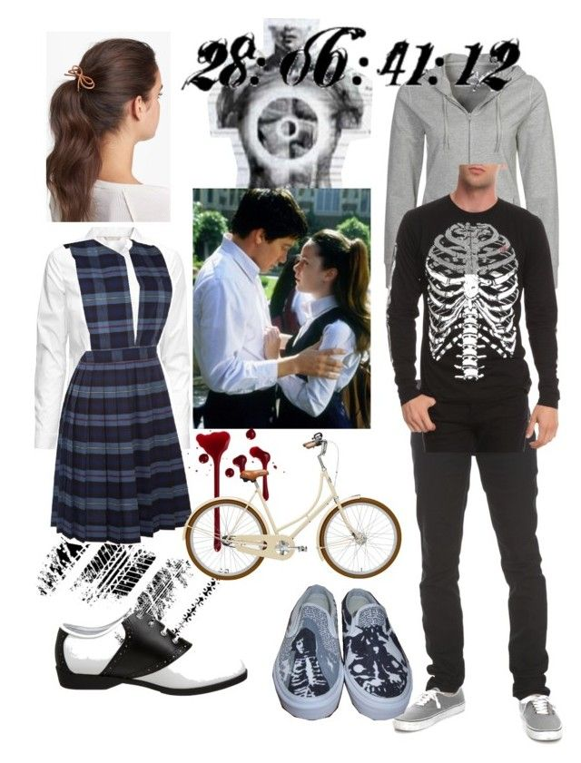 """Gretchen and Donnie Darko Halloween costumes"" by kayleightouchstone on Polyvore featuring Dorotennis, H&M, Cara, Funtasma, Vlado and Vans"