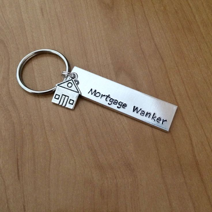 Mortgage W*nker Keychain - Housewarming Gift - New Home Gift - House Keys Keyring - Moving In Together - First Home - Funny Housewarming by BlueHawkDesigns on Etsy https://www.etsy.com/uk/listing/525593405/mortgage-wnker-keychain-housewarming