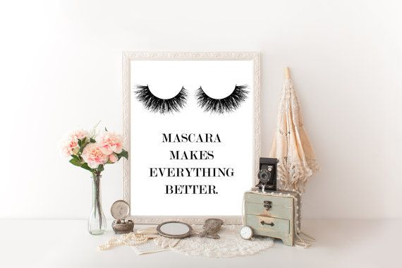 Prints for bathroom Makeup decor Makeup wall by READYSETCHAMPAGNE