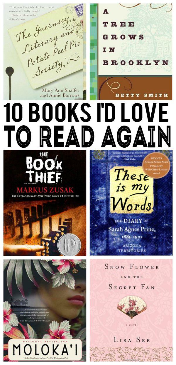 10 Books I'd LOVE to Read Again