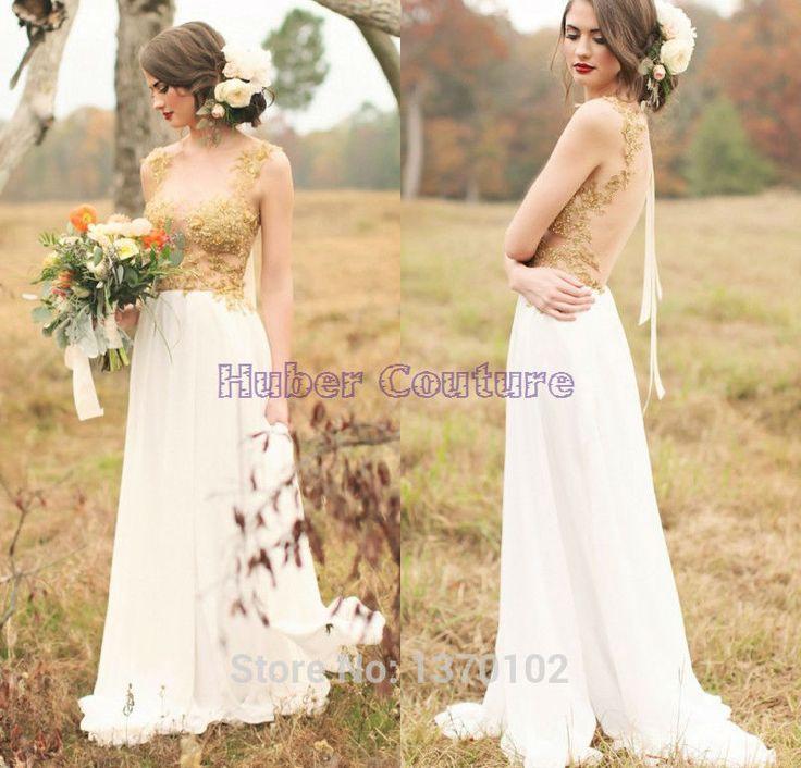 Vestido de blanco barato – Vestidos de noche populares foto del ...