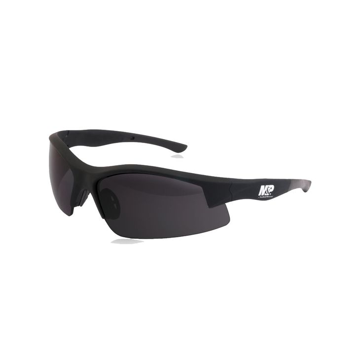 M&P Super Cobra Shooting Glasses - Black Frame, Smoke Lens