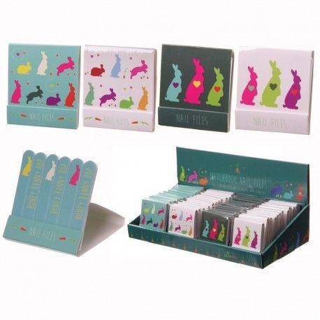Boîte de limes à ongles - Lapins
