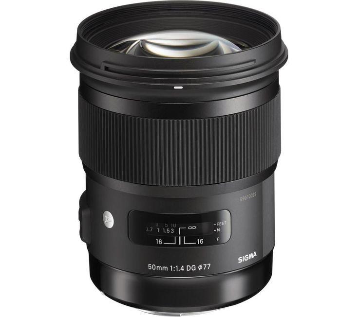 SIGMA  50 mm f/1.4 DG HSM A Standard Prime Lens - for Canon Price: £ 571.00 50mm f/1.4 DG HSM A Canon fit BUY NOW for just GBP571.00