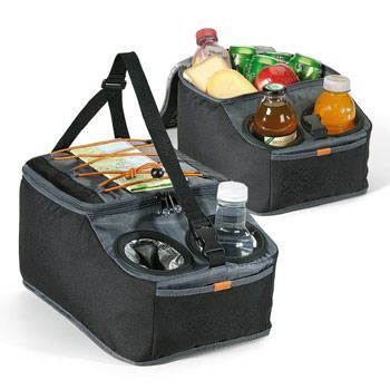 Backseat cooler and organizer for those hungry kids. $26 each, keepyourcooler.com