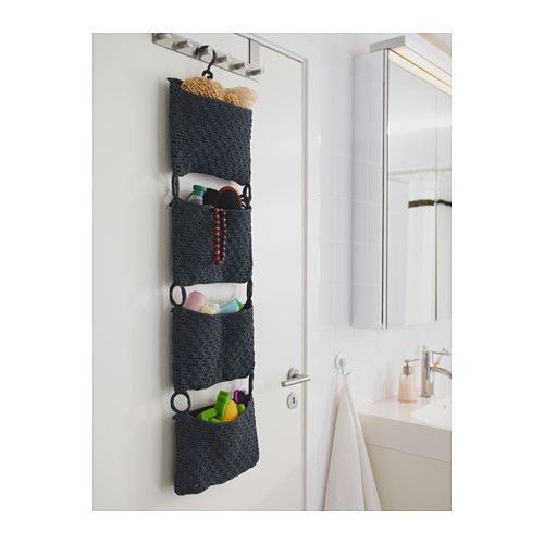 Great space saver for makeup, etc. but would love a lighter color.  NORDRANA Hanging storage  - IKEA