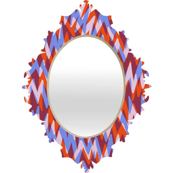 Sarah Bagshaw Orange And Purple Zig Zags Wall Mirror!