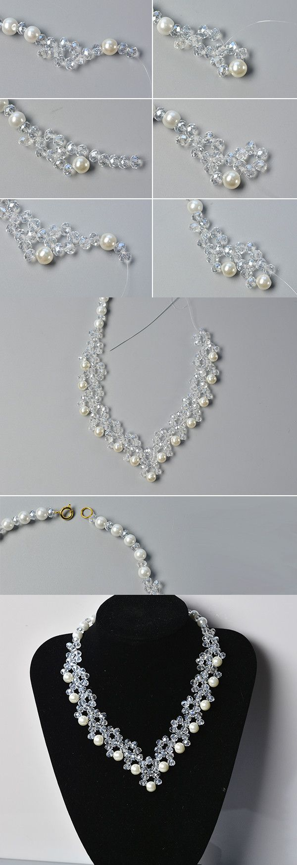 Wanna this glass and pearl beads necklace?The tutorial will be published by LC.Pandahall.com soon.