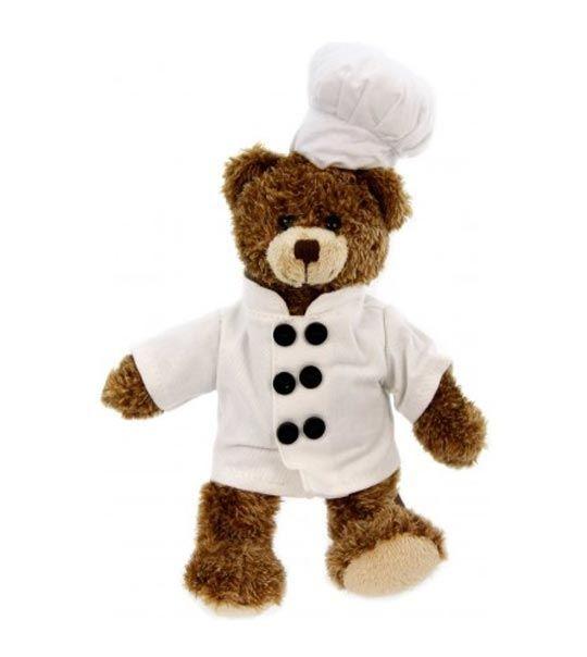 Zouzours chef cuisinier en peluche teddy nounours for Cuisinier 49