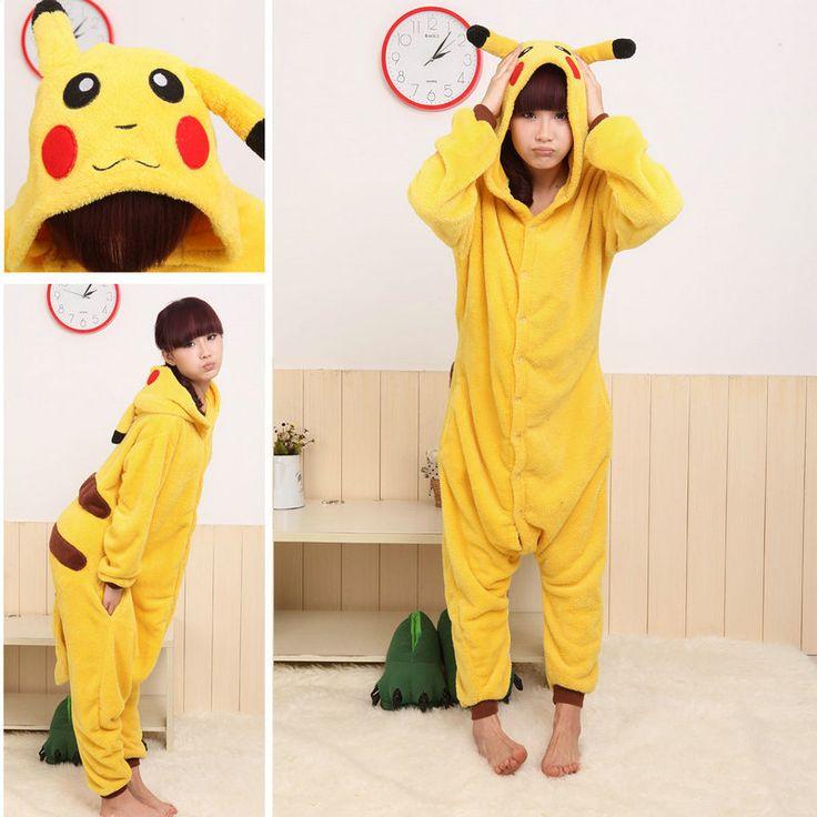 Pokemon Pikachu Kigurumi animal Onesies Pajamas Costume - Pajamasbuy