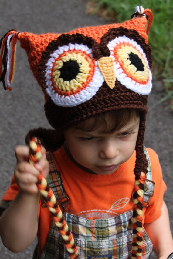 Cute crochet owl hat.