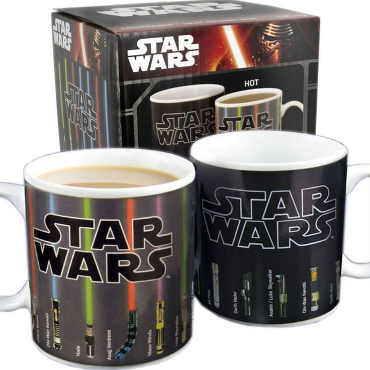 Hot Star Wars Lightsaber Heat Reveal Mug color change coffee cup sensitive Ceramic Mug boy friend Birthday Gift