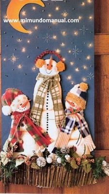 Adornos navideños en fieltro ~ Mimundomanual