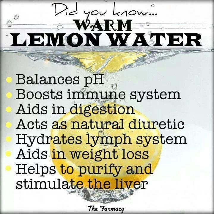 Warm lemon water