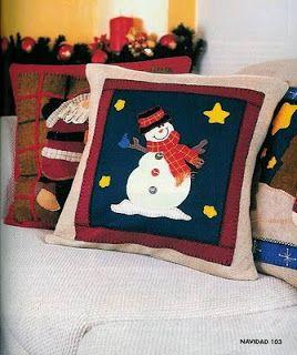 Artesanato e Cia : Almofada de natal em feltro