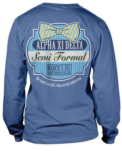 Alpha Xi Delta Preppy Formal T-shirt