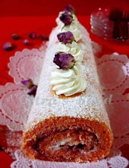 Citra's Home Diary: Rose Flavor Swiss Roll Cake / Bolu gulung Mawar
