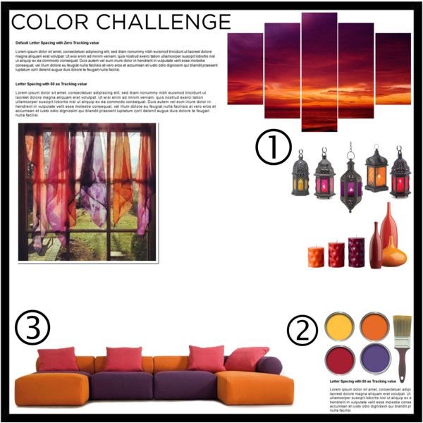 Color Challenge by hybrid-rainbow on Polyvore featuring polyvore, interior, interiors, interior design, home, home decor, interior decorating, Graham & Brown, CB2, Zingz & Thingz, INDIE HAIR, Home, polyvoreeditorial and colorchallenge
