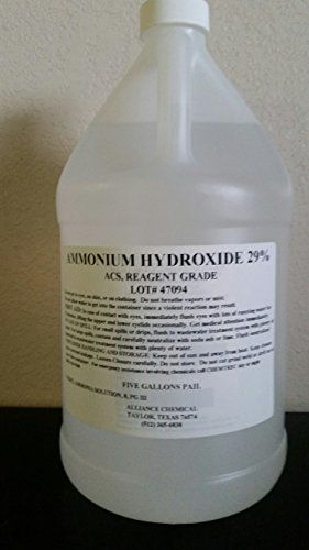 #trendy #Ammonium Hydroxide 29% ACS Reagent Grade (High Purity) in a one gallon poly bottle. Please note that quantities under two gallons will be shipped as fou...