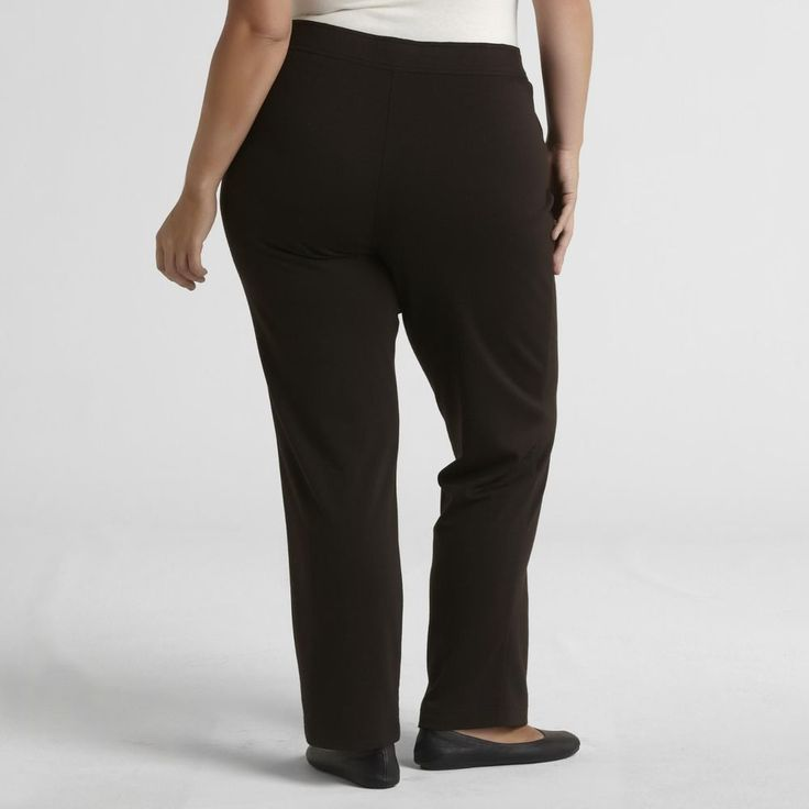 Women's plus size knit pull on pants