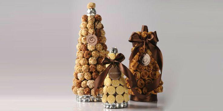 Torres de trufas,  rolls de canela y galletas ... Merengue Pasteleria