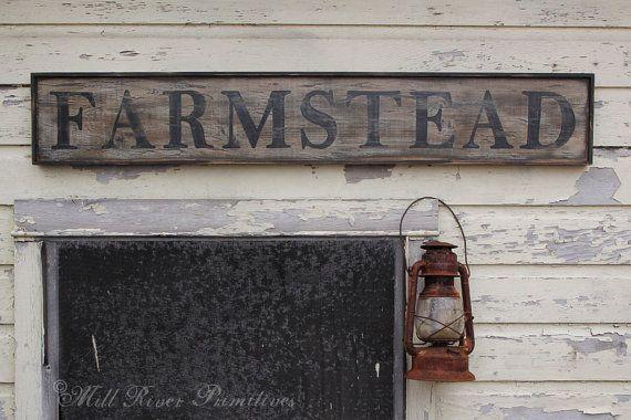 Early looking Antique Primitive FARMSTEAD by MillRiverPrimitives