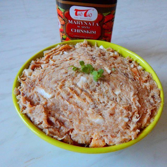 @taotao_harmoniasmakow #taotao #zawszesmacznie  pasta rybna z jajkiem  i grzybami  z dodatkiem  marynaty