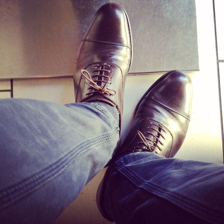 #oxfords #captoe #dark #brown #stillshining #4yrs